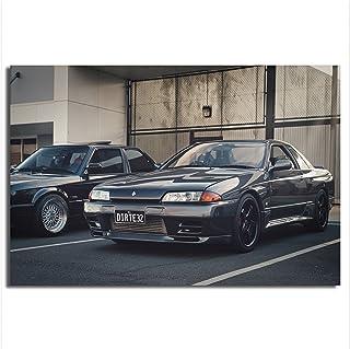RHWXAX Nissan Skyline GT-R R R32 Voitures japonaises JDM Sports Voiture Classic Posters Toile Imprimer Peintures Tableaux ...