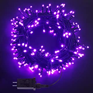 78.5FT 240LED Christmas String Lights, Waterproof Purple Halloween Decorations Lights Outdoor/Indoor, 8 Modes Green Wire C...