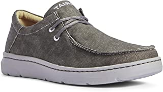 حذاء رجالي برباط من ARIAT مطبوع عليه Hilo Deep Ash مقاس 9.5 EE