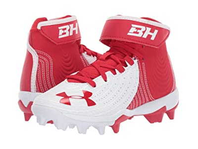 Under Armour Kids Harper 4 Mid RM Baseball (Little Kid/Big Kid) (Red/White) Kids Shoes