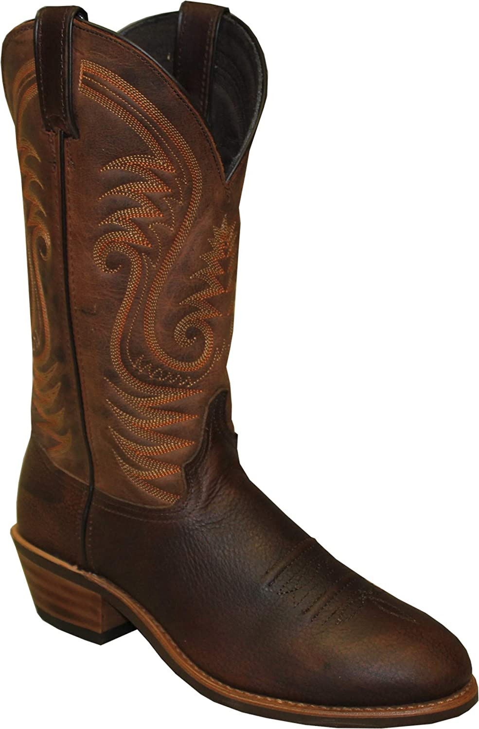 2021 new Abilene Mens Brown Leather Max 79% OFF 12in Cowboy Boots Safety Toe