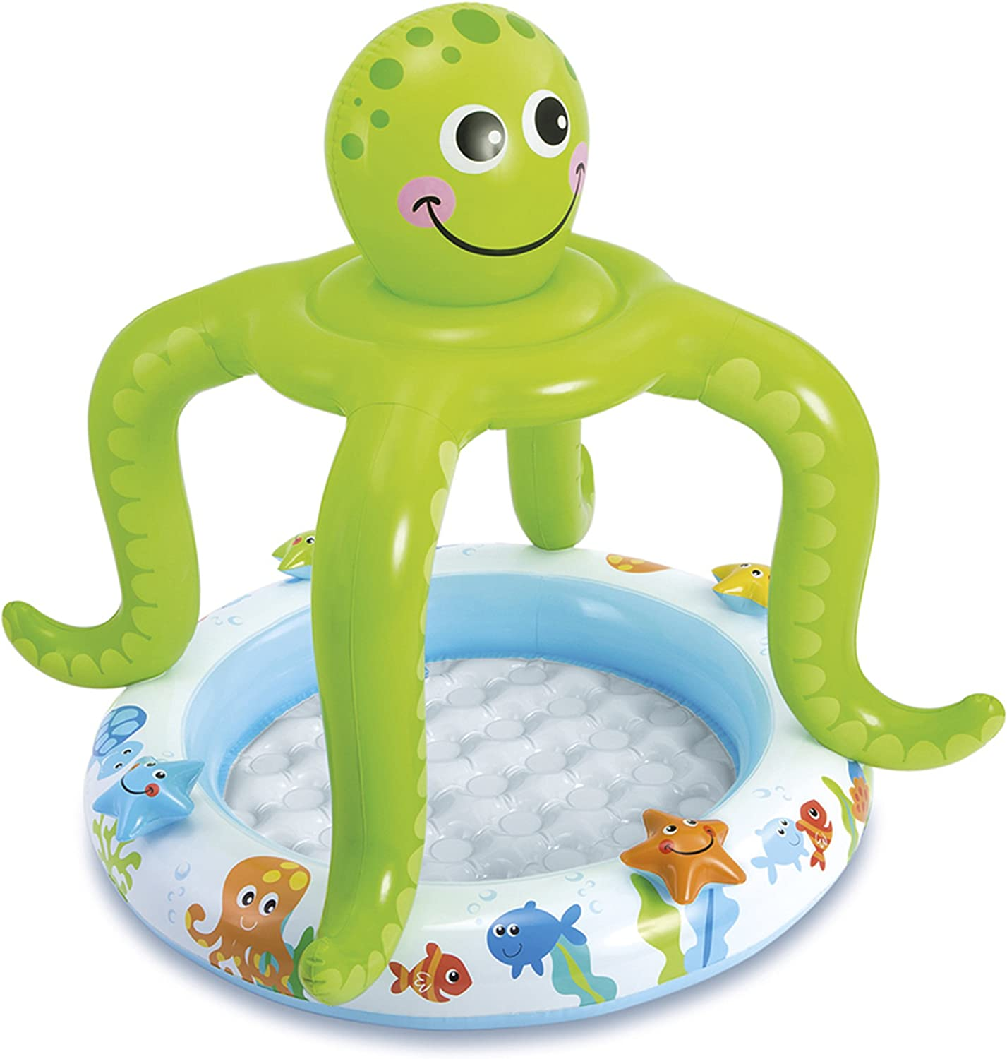 New Orleans Mall Siva Max 65% OFF Toys Toys227971 Smiling Octopus Pool Shade Baby Multi