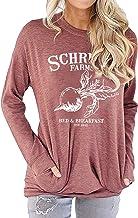 Best OUNAR Women Schrute Farms Shirt Cute The Office Graphic T-Shirt Sweatshirt with Pocket Review