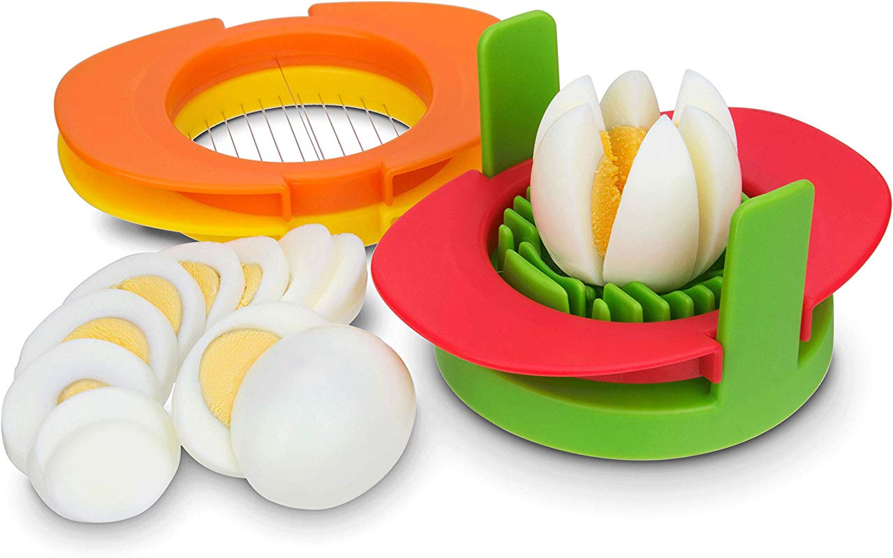 Egg Slicer Set With 3 Cutters 3 In 1 Stainless Steel Wires Cut Boiled Eggs Into Thin Slices Wedges Or Halves Boiled Eggs Or Fruits Cutter