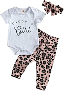 Newborn Baby Girls Leopard Clothes Sets Short/Long Sleeve Romper Jumpsuit Top+ Pants+ Headband 3pcs Infant Summer Outfit Set