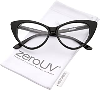 zeroUV - Super Cat Eye Glasses Vintage Inspired Mod...