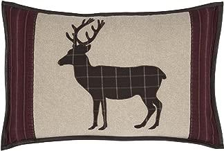 VHC Brands Rustic & Lodge Pillows & Throws-Wyatt Tan Applique Deer 14 x 22 Pillow, Brown