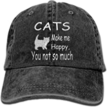 Cats Make Me Happy You Not So Much Adjustable Noveity Cowboy Cap
