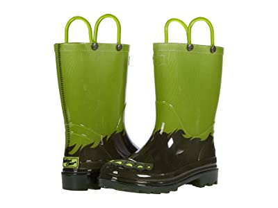 Western Chief Kids Monster Foot Lighted PVC Boot (Toddler/Little Kid) Boy