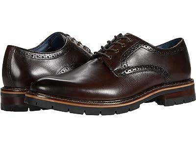 Johnston & Murphy Cody Plain Toe (Mahogany Full Grain Leather) Men