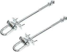 KOTARBAU® Set van 2 schommelhaken M10 x 190 mm met schakels en bouten voor schommelbalken veiligheidshaken schommelbevesti...