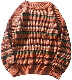 YANGPP Maglioni da uomo A Righe Pullover Maglione Girocollo Street Hip Hop Maglione Uomo Abbigliamento Streetwear Maglione...