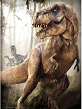 DIY 5D Full Drill Diamond Painting Kits for Adults Kids, Square Crystal Rhinestone Diamond Embroidery Paintings Arts Craft Home Wall Decor (T-Rex, 11.8 x 15.8 Inch)