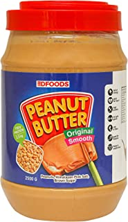 DFOODS Original Peanut Butter (Smooth) (2.5kg) | Unsweetened | 700g Protein | Non GMO | Gluten Free | Vegan | Cholesterol ...
