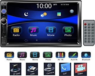 Regetek 7' Double DIN Touchscreen in Dash Bluetooth Car Stereo Mp3 Audio 1080P Video Player FM Radio/AM Radio/TF/USB/AUX-in + Remote Control