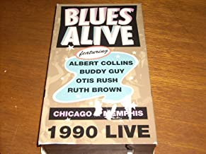 BLUES ALIVE - Chicago & Memphis 1990 Live [VHS Video Cassette - NTSC Format] Albert Collins, Buddy Guy, Otis Rush, Ruth Brown, Charles Brown, Junior Wells, John Cephus & Phil Wiggins, Joyce Cobb & Ruby Wilson