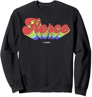 Sex Education Fierce Rainbow Text Sweatshirt