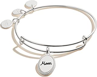 Alex and Ani Because I Love You Mom Expandable Wire Bangle Bracelet for Women
