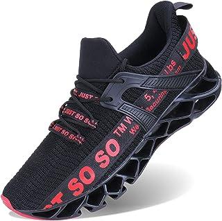 Mens Runing Shoes Walking Non Slip Blade Type Sneakers