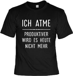 e31aca707cfd94 Mega-Shirt Lustiges Sprüche Shirt T-Shirt mit Urkunde Ich Atme…  Geschenkartikel Fun