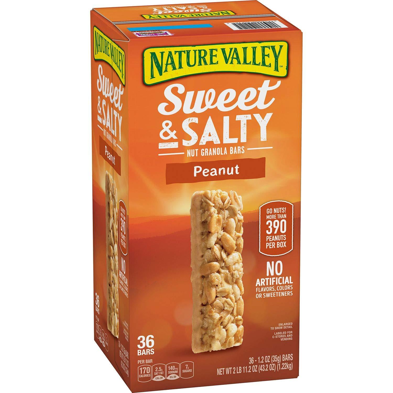 Nature Valley Sweet Salty Outstanding Peanut Granola 36 bars oz. Bars Long-awaited 1.2