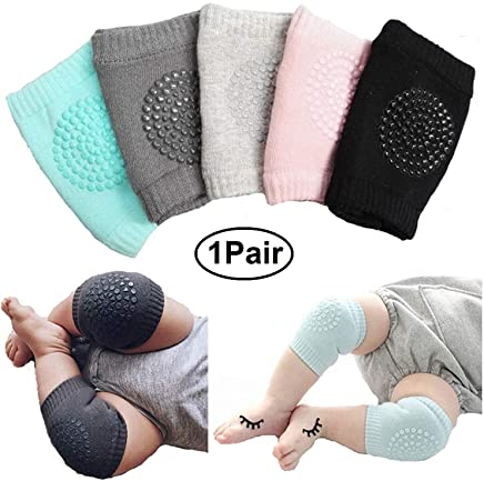 Getko With Device Baby Knee Pads for Crawling Cushion, Anti-Slip Knee Elbow Unisex Baby Toddlers Knee Pads Kids Knee Protector Baby Leg Warmers - 1Pair