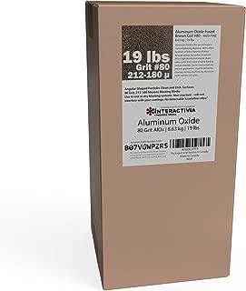 Aluminum Oxide #80-19 LBS - Medium to Fine Sand Blasting Abrasive Media for Blasting Cabinet or Blasting Guns.