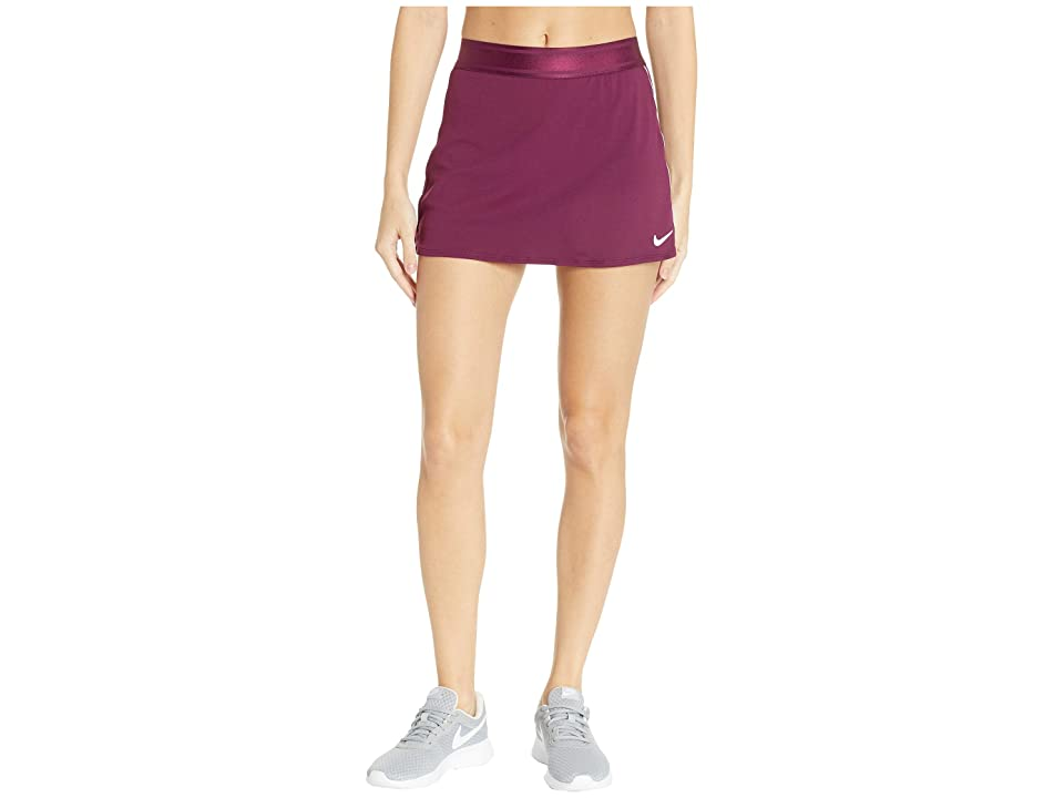 Nike Court Dry Skirt Stretch (Bordeaux/White/White/Bordeaux) Women