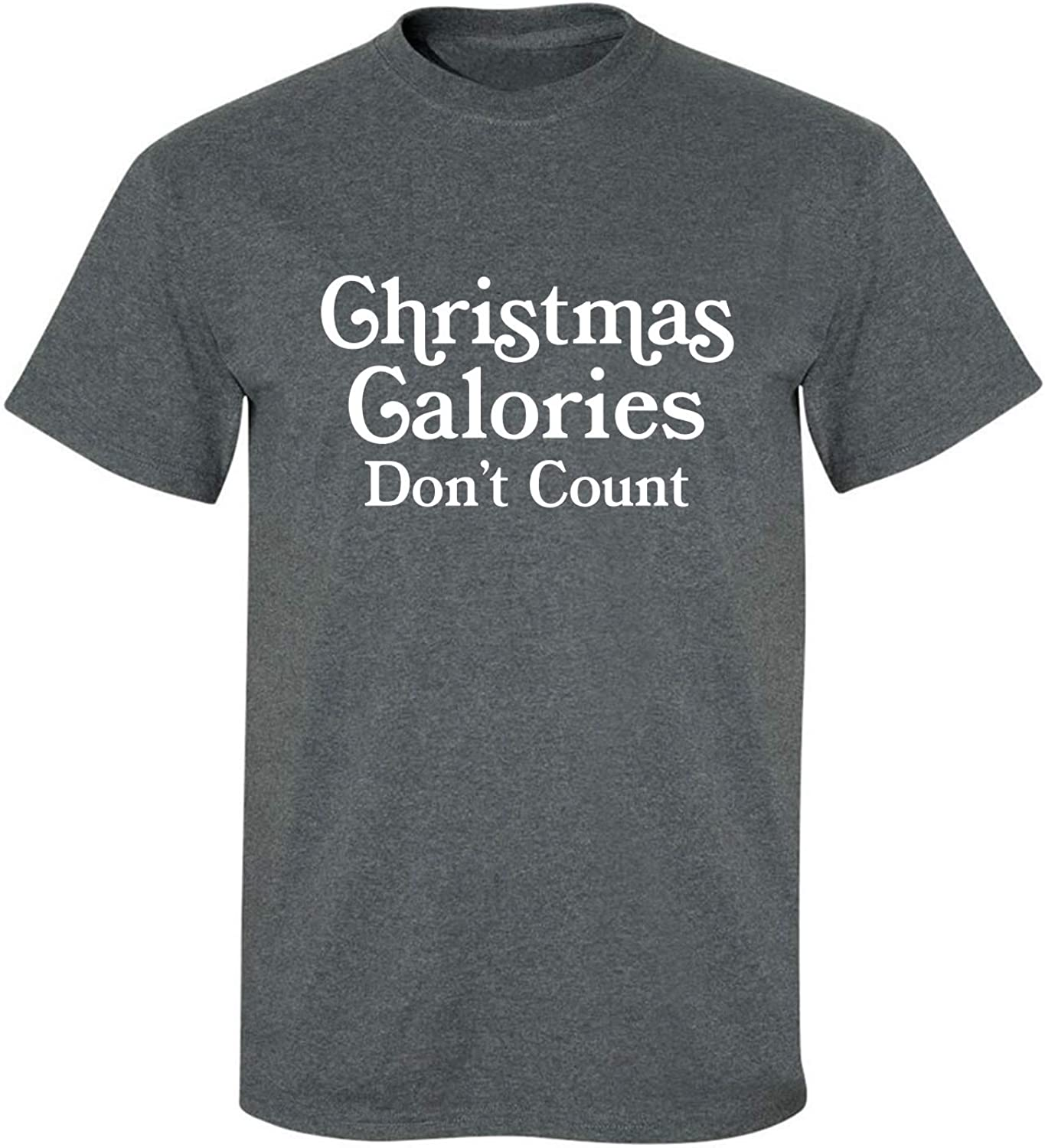 Christmas Calories Don't Count Adult T-Shirt in Dark Heather - XXX-Large