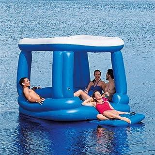 Kyman 4-6 Persona Adulto Piscina Grande flotadores inflables Casa Castillo Piscina Floatie Gigante del río del Agua del La...