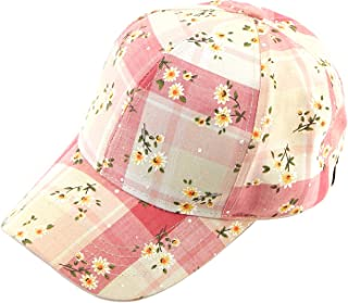 Hatsandscarf C.C Exclusives Flower Pattern Baseball Cap