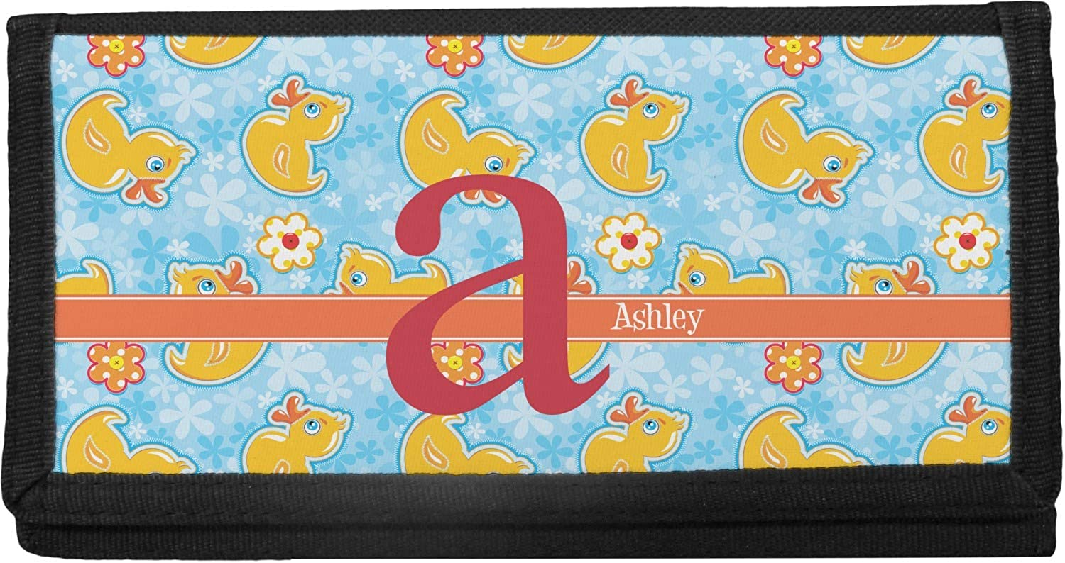 Rubber Duckies Flowers 2021 spring and summer new Canvas Personalized Ranking TOP12 Checkbook Cover