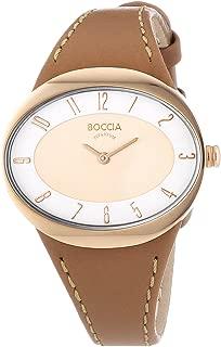Boccia Women's Quartz Watch 3165-18 with Leather Strap