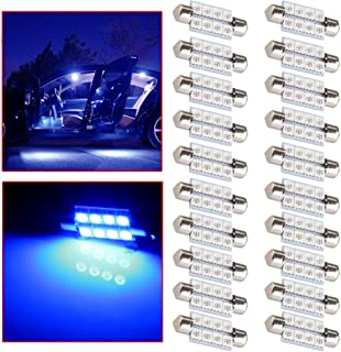 OCPTY Extremely Bright 39mm Festoon Blue Light for 6411 6418 C5W DE3423 6413 DE3425 Car Interior Dome License Plate Door Lights Pack of 20