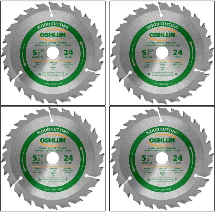 Oshlun SBW-055024 5-1 2-Inch 24 Tooth Purpose Deluxe and Limited price ATB General Tr