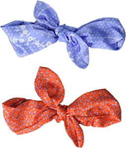 Periwinkle Bandana/Red Floral