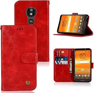 Moto E5 Cruise Case, Moto E5 Play Case, Zoeirc PU Leather Wallet Flip Folio Protective Phone Case Cover with Card Slots and Stand for Motorola Moto E Play 5th Gen 2018 (red)
