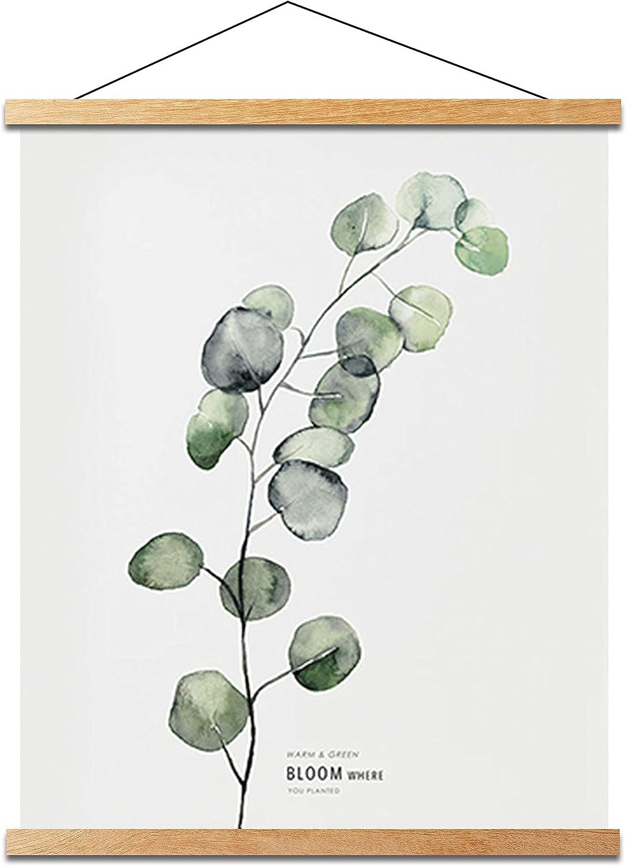 Mookgro Poster Frame ,Magnetic Poster Frame Hanger Hanging Kit for Picture Photo Art Print or Canvas Artwork Light Wood (9