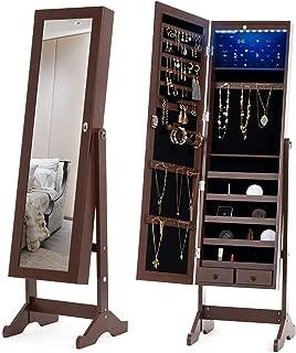 free standing mirror with jewelry storage