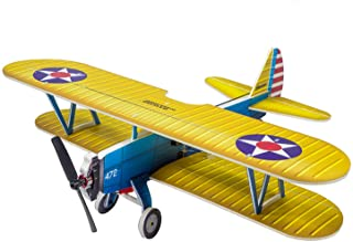 DWH E2505-154E PT-17 RC Airplane Aircraft Foam Plane 450mm Wingspan Outdoor Flight Toys for Kids Adults Boys DIY Assembly ...
