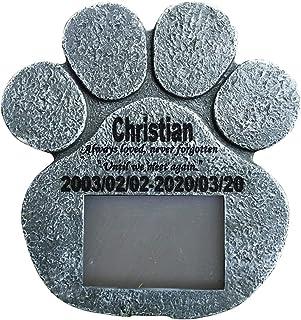 WNGGADH 1 cadre photo pour chien et chat - Pierre tombale funéraire - Pierre tombale pour animal domestique