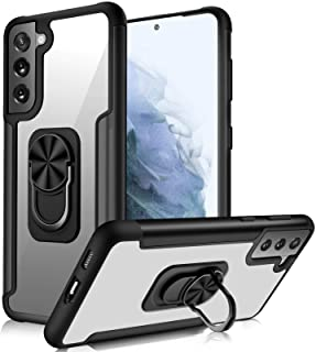 """FYY Phone Case for Samsung Galaxy S21+ Plus 6.7"""" 5G, [Built-in 360° Rotation Ring Holder] [Kickstand Feature] Clear Heavy ..."""