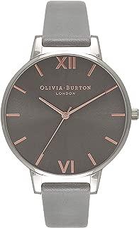 Olivia Burton Women's Black Dial Leather Band Watch - OB16BD90