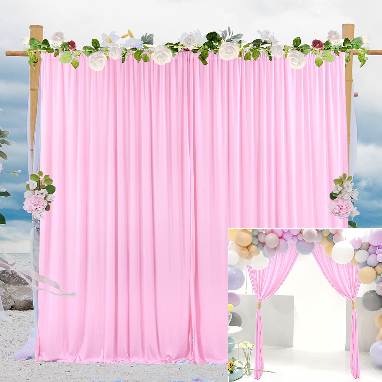 Pink Backdrop Curtain for Wedding Shower Photography Ranking TOP18 Baby Washington Mall Party