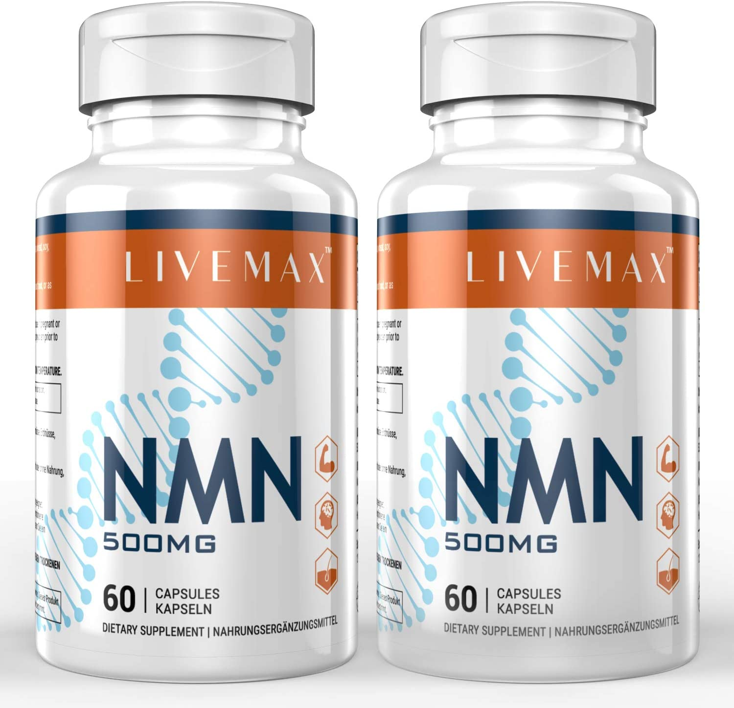 NMN Supplement 500mg- Enhance Boost Max 87% OFF Impro Concentration New life Energy