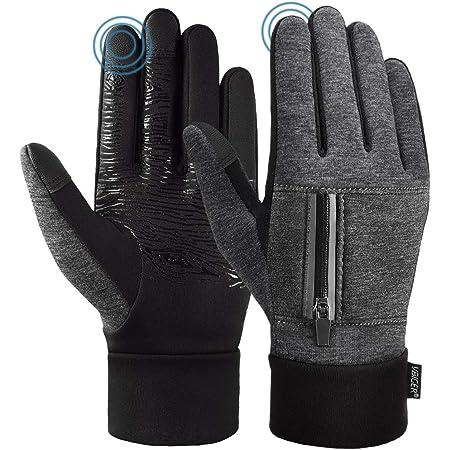VBIGER Herren Touchscreen Handschuhe Anti-Rutsch Outdoor Sport Handschuhe Fahren Radfahren Handschuhe mit Fleece Liner f/ür Herbst und Fr/ühwinter
