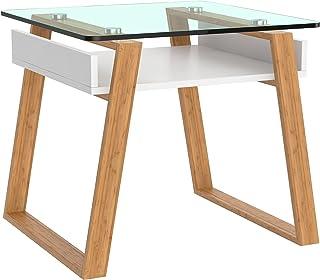 bonVIVO Pablo Mesa Pequeña Auxiliar Puede Usarse como Mesa de Café Moderna o Mesa Auxiliar para el Salón - Mesas de Crist...