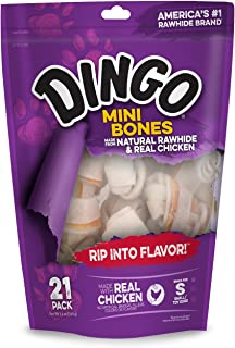 Dingo Naturals Dog Bone Made From Natural Rawhide And Real Chicken