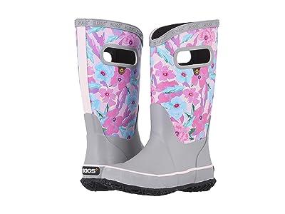 Bogs Kids Rain Boots Water Pansies (Toddler/Little Kid/Big Kid) (Light Gray Multi) Girls Shoes
