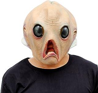 CreepyParty Fiesta de Disfraces de Halloween Máscara de Cabeza de Látex Extraterrestre Alien